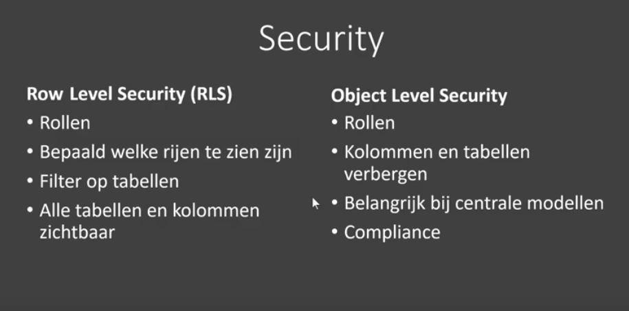 power bi object level security